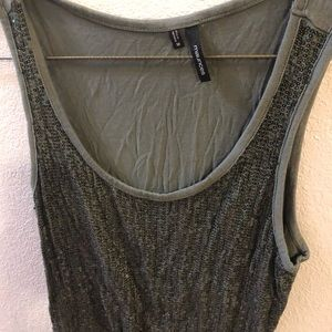 Sequined Green Maurice's tank top size medium